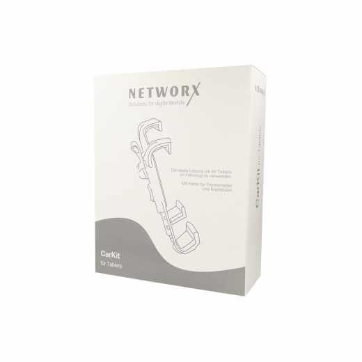 Networx Car Kit KFZ Halterung für Tablet Set schwarz - sehr gut