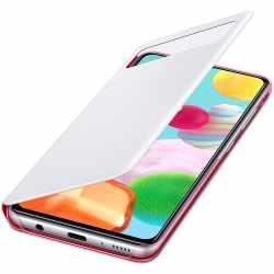 Samsung S View Schutzhülle für Galaxy A41 Handyhülle Klapphülle weiß