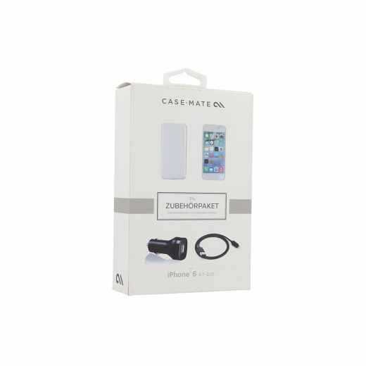 case-mate Bundle Pack für iPhone6 Schutzhülle Displayschutz USB Ladegerät - sehr gut
