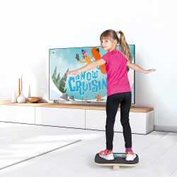 Erzi Kids Plankpad Balancierbrett Holz mit App...
