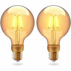 innr LED E27 Lampe filament Globe vintage 2-Pack ZigBee...