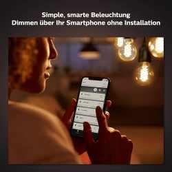 Philips Hue White Filament E27 LED Lampe dimmbar...