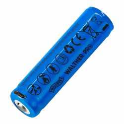 WALTHER Akku INR18650h inkl. USB-Aufladefunktion Einzel-Akku