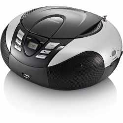 Lenco SCD-37 Tragbares UKW Radio mit CD USB Player...