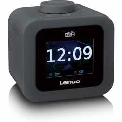 Lenco CR-620 FM-/DAB+ Radiowecker mit TFT Farbdisplay...