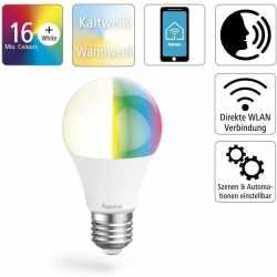 hama WLAN-Lampe E27 10 W LED Lampe dimmbar weiß