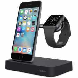 Belkin Ladestation Vale Induktionsladegerät für Apple Watch und iPhone schwarz