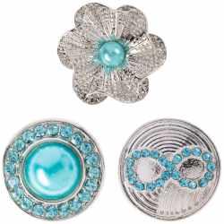 Berydale Damen-Click-Buttons Messing Set 3 Stück...