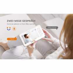BOIFUN Babyphone mit Kamera LCD-Bildschirm VOX weiß