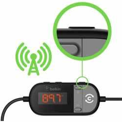 Belkin TuneCast In-Car 3.5mm AUX auf FM Transmitter schwarz