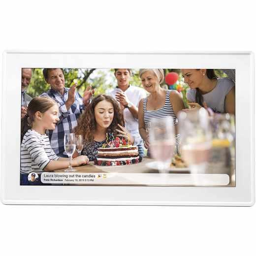 Denver FRAMEO Bilderrahmen 15,6 Zoll PFF-1513 Touchscreen wi-fi weiß