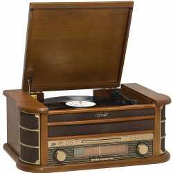 Denver Retro MCR-50 Musik-Center Plattenspieler CD-Player...