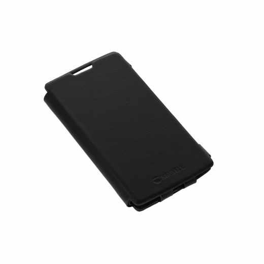 Krusell Donsö Book Cover LG C70 Flip-Hülle Schutzhülle Smartphonetasche schwarz