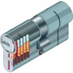 Abus KD6PSN Knaufzylinder Z70/K30 mm BKkn mit 5...