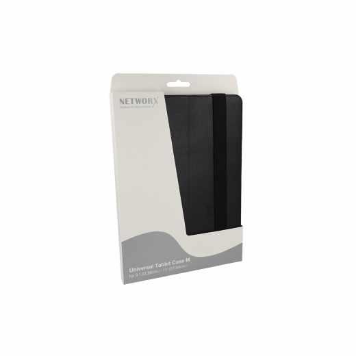 """Networx Universal Tablet Case M Cover Schutzhülle für Tablet 9""""/10"""" schwarz - neu"""