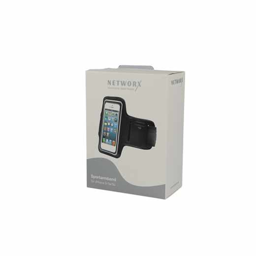Networx Universal Sportarmband für Smartphones iPhone 5/5s/5c/SE Neopren schwarz