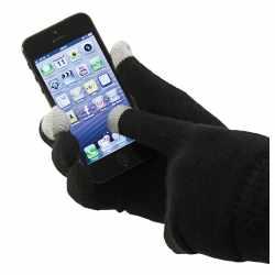 A.i.&e.Touchscreen Handschuhe für Handy Smartphone Tablet Universalgröße schwarz
