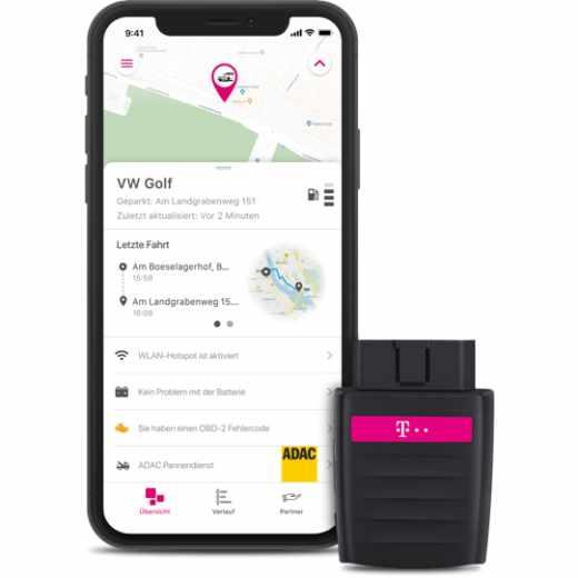 Telekom Car Connect GPS Tracker für Auto Hotspot LTE schwarz - sehr gut